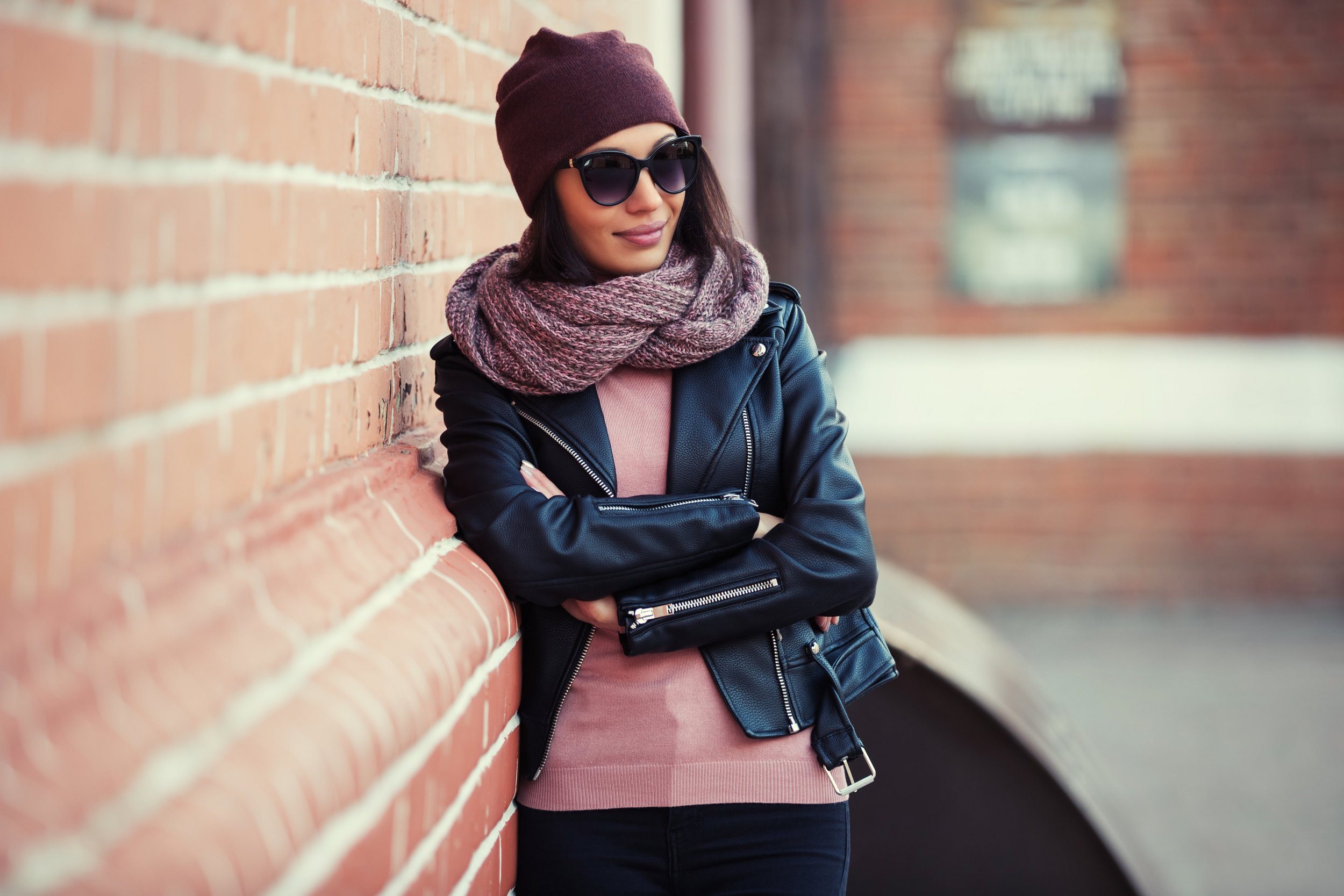 Girl wearing autumn clothes